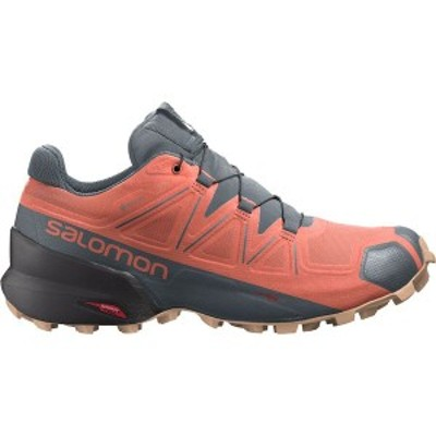 サロモン レディース スニーカー シューズ Speedcross 5 GTX Trail Running Shoe Persimon/Phantom/Almond Cream