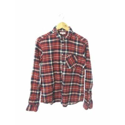 【中古】アーバンリサーチ URBAN RESEARCH シャツ 長袖 チェック 40 赤 レッド /RT18 レディース