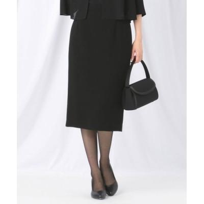 BLACK FORMAL/ブラックフォーマル 【楽々な着心地】NOIE15平二重 スカート ブラック系 34