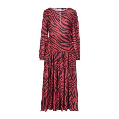 MARYLEY 7分丈ワンピース・ドレス レッド 44 ポリエステル 100% 7分丈ワンピース・ドレス