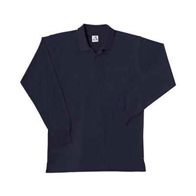 SOWA(ソーワ) 長袖ポロシャツ(胸ポケット有り) ネイビー Lサイズ 0020