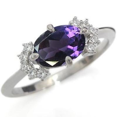 プラチナ 指輪 アメジスト 指輪 アメジストリング