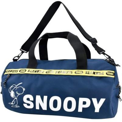 【ランナー】 SNOOPY スヌーピー ロゴライン ボストンバッグ ユニセックス ネイビー フリー RUNNER