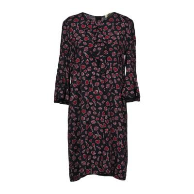 リュー ジョー LIU •JO ミニワンピース&ドレス ブラック 44 レーヨン 100% ミニワンピース&ドレス
