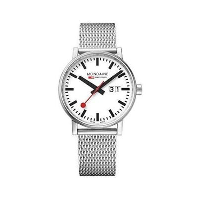 【並行輸入品】Mondaine Men's SBB Swiss-Quartz Watch with Stainless-Steel Strap, Silver, 20 (Model: MSE.40210.SM)