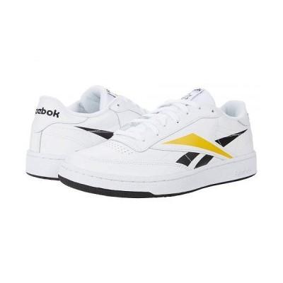 Reebok リーボック メンズ 男性用 シューズ 靴 スニーカー 運動靴 Club C 85 MU - White/Black/Toxyel