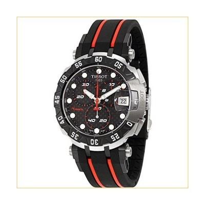 ティソ 腕時計  Tissot Black Dial SS Rubber Chronograph Quartz Men's Watch T0924172720100 並行輸入品