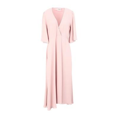 OTTOD'AME 7分丈ワンピース・ドレス ピンク 40 レーヨン 100% 7分丈ワンピース・ドレス