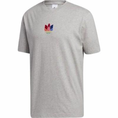 アディダス adidas Originals メンズ Tシャツ トップス 3D Trefoil T-Shirt Medium Grey Heather/Gray