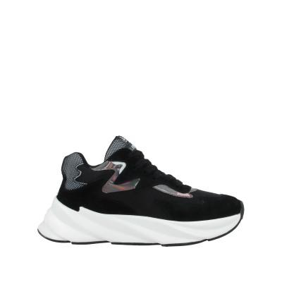 ELENA IACHI スニーカー&テニスシューズ(ローカット) ブラック 35 革 / 紡績繊維 スニーカー&テニスシューズ(ローカット)