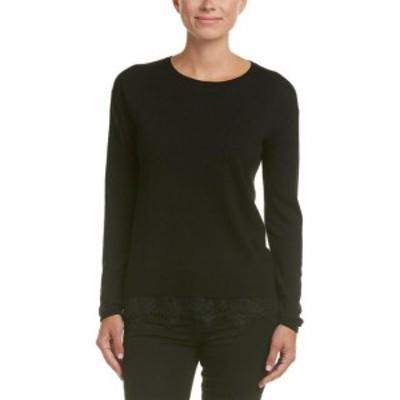 ファッション トップス Duffy Lace Trim Sweater Xs Black