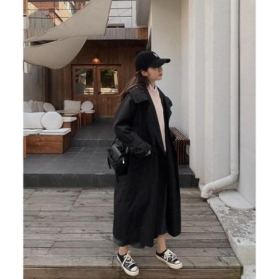 WITHMOMENT レディース コート Long Hooded Trench Coat-3color