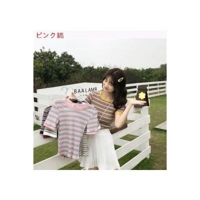 【送料無料】ネット レッド 色のストライプをトレンド シャツ 女 夏 韓国風 着やせ | 346770_A62824-4917152