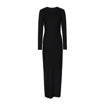 8 by YOOX ロングワンピース&ドレス ブラック M レーヨン 67% / ナイロン 28% / ポリウレタン 5% ロングワンピース&ドレス