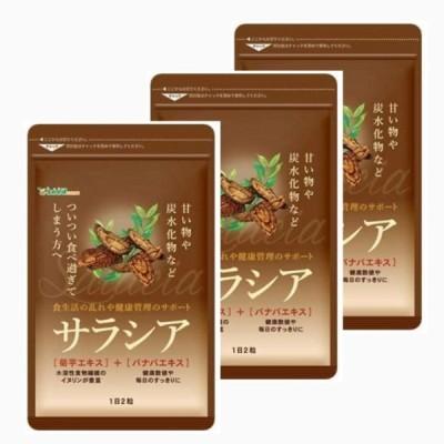 【3袋セット】シードコムス サラシア 菊芋エキス バナバエキス 配合 サプリメント ダイエット 約3ヶ月分 180粒