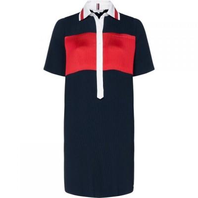 トミー ヒルフィガー Tommy Hilfiger レディース ワンピース ワンピース・ドレス Frances Pleat Dress Navy