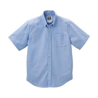 クロダルマ(KURODARUMA) 半袖シャツ ブルー 26875 作業着 作業服 作業シャツ 春夏用 メンズ レディース