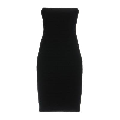 ELISABETTA FRANCHI GOLD ミニワンピース&ドレス ブラック 46 レーヨン 86% / ナイロン 9% / ポリウレタン 5%