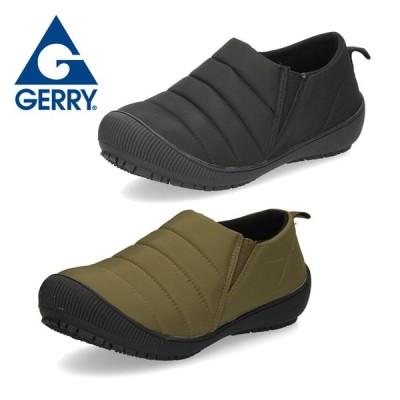 GERRY ジェリー スリッポン レディース モックシューズ 5503 スニーカー アウトドア 3E ワイズ 防滑 軽量 ブラック カーキ