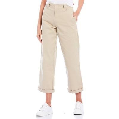 ディッキーズ レディース カジュアルパンツ ボトムス High Rise Rolled Hem Cropped Work Pants