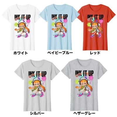 トップス レディース tシャツ スプラトゥーン  Ink It Up Squid Inkling Splatterポスター   Nintendo