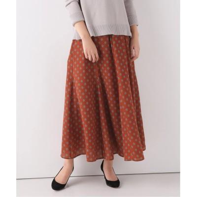 レディース ベーセーストック バイアスプリントスカート キャメル フリー