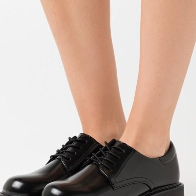 レディース 靴 シューズ VEGAN DENISE SHOE - Lace-ups - black