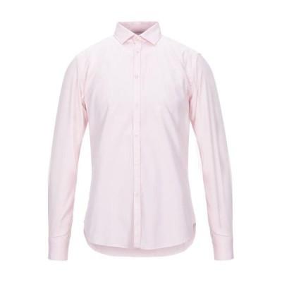 LIBERTY ROSE 無地シャツ  メンズファッション  トップス  シャツ、カジュアルシャツ  長袖 ピンク
