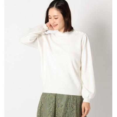 【ミューズ リファインド クローズ/MEW'S REFINED CLOTHES】 ネックパール付きニット