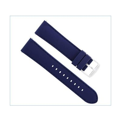 22MM Rubber Diver WATCHBAND Strap for LUMINOX Navy Seal 3000 3050 3080 3900 Blue並行輸入品