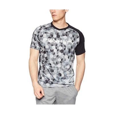 ペナルティ サッカー フットサル 半袖Tシャツ HEXグラデーションプラトップ 吸汗 速乾 ストレッチ PU9008 ブラック Sサイズ