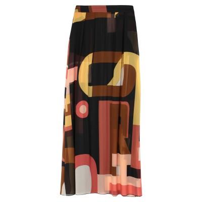ロートレ ショーズ L' AUTRE CHOSE ロングスカート ブラウン 38 シルク 100% ロングスカート