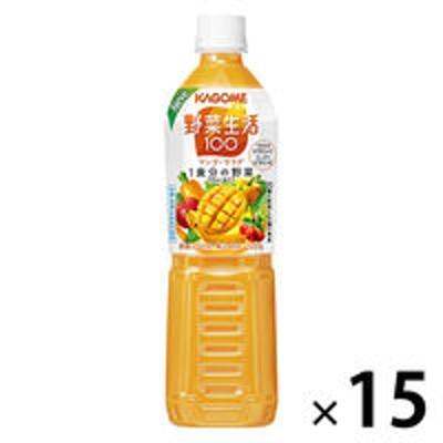 カゴメカゴメ 野菜生活100 マンゴーサラダ スマートPET 720ml 1箱(15本入)【野菜ジュース】