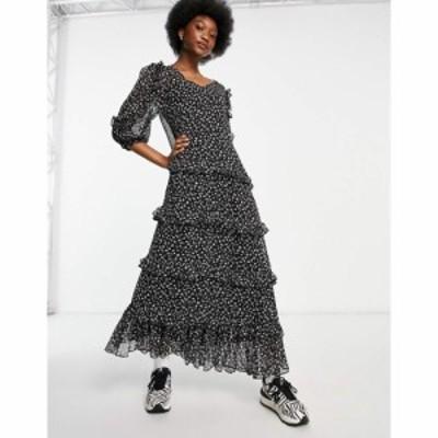 ジェイディーワイ JDY レディース ワンピース ワンピース・ドレス maxi dress with ruffle detail in floral print