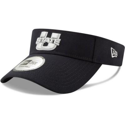 ユニセックス スポーツリーグ アメリカ大学スポーツ Utah State Aggies New Era Flash Visor - Navy - OSFA 帽子
