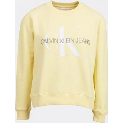 カルバンクライン Calvin Klein Jeans レディース スウェット・トレーナー トップス Relaxed Organic Sweatshirt Mimosa Yellow