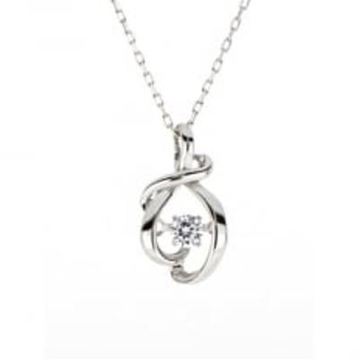 大月市限定コラボペンダント ダンシングストーン(大月市章デザイン)天然ダイヤモンド(K10WG)