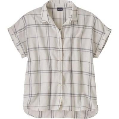 パタゴニア レディース Tシャツ トップス A/C Lightweight Shirt Harvest Windowpane/White Wash