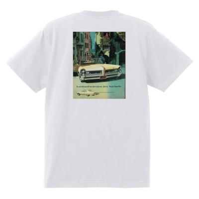アドバタイジング ポンティアック 397 白 Tシャツ 黒地へ変更可能 1965 テンペスト ボンネビル カタリナ パリジェンヌ アメ車