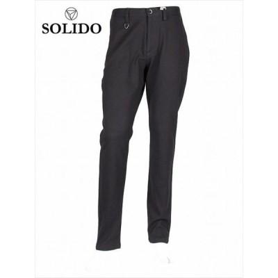 SOLIDO ソリード COLTELLO ジャガード ピンストライプ パンツ MSL19A5454 ブラック ダブルフェイス 国内正規品