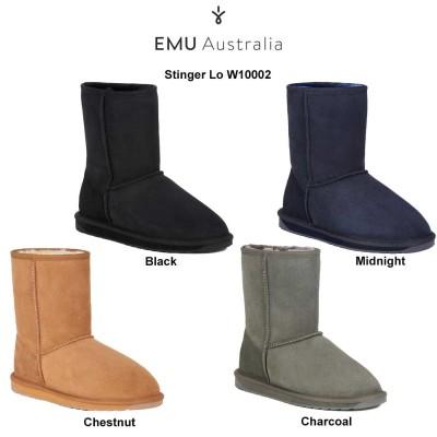 EMU(エミュー)ブーツ ムートン シープスキン レディース スティンガーロー Stinger Lo W10002