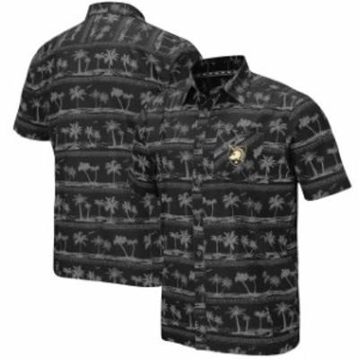 Colosseum コロセウム スポーツ用品  Colosseum Army Black Knights Black Hilo Camp Shirt