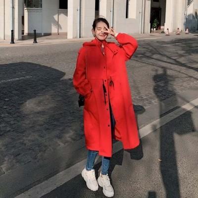 フードミディアムコート アフター 春 パーカー 大きいサイズ コート レディース スプリングコート トレンチコート ブルゾン 大人 飽きのこないアイテム