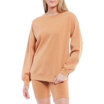 ジアーニビニ レディース Tシャツ トップス Nikki Oversized Sweatshirt Tan