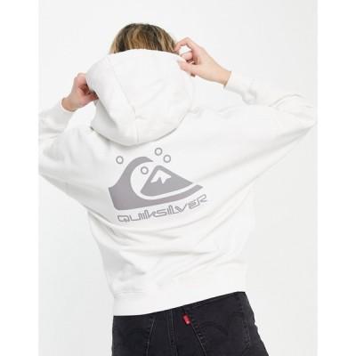 クイックシルバー Quiksilver レディース パーカー トップス Oversized Hoodie With Logo In White