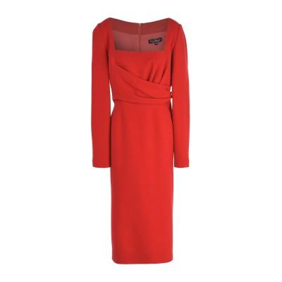 IVAN MONTESI 7分丈ワンピース・ドレス レッド 48 ウール 100% 7分丈ワンピース・ドレス