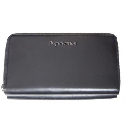 Aquascutum アクアスキュータム クラッチバッグ クラッチ カードケース ブラック GW540LHNBM-A1