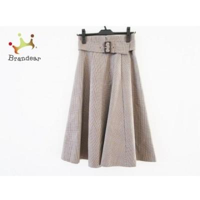 マイストラーダ スカート サイズ36 S レディース 新品同様 ベージュ×ブラウン チェック柄  値下げ 20200621