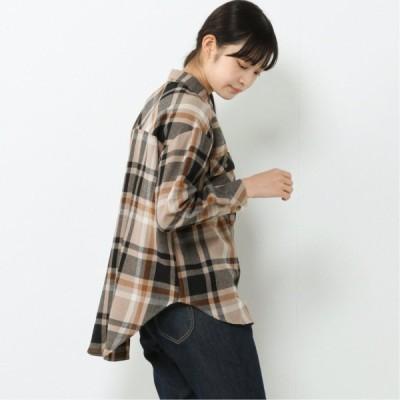 起毛ビッグポケットオーバーサイズシャツ ベージュA M L LL 3L 4L