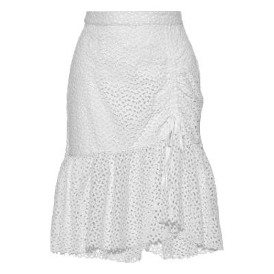 WALTER BAKER ひざ丈スカート ホワイト 6 コットン 100% ひざ丈スカート